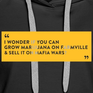 Farmville Vs. Mafia Wars - Women's Premium Hoodie