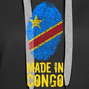 Made In Congo / RDC / Zaïre - Sweat-shirt à capuche Premium pour femmes