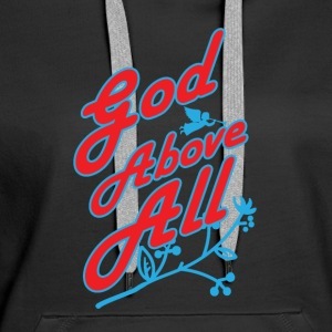 God Above All - Women's Premium Hoodie