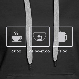Breakfast, Aquarium, Feierabend - Women's Premium Hoodie