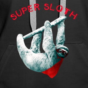 søvnig sloth sloth super lat nerdete pc lol - Premium hettegenser for kvinner