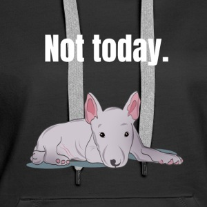 Bull Terrier lazy tired gift - Women's Premium Hoodie