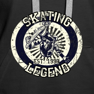 Skateboarder Skating Legende Board 1998 - Frauen Premium Hoodie