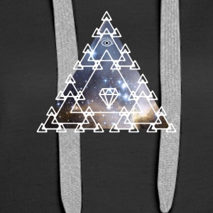 Illuminati Nerd Triangle Game Eye Pyramid Space - Women's Premium Hoodie