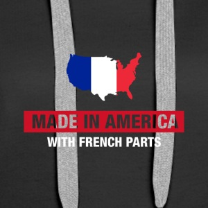 Made In America With French Parts France Flag - Women's Premium Hoodie