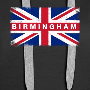 Birmingham Shirt Vintage United Kingdom Flag - Women's Premium Hoodie