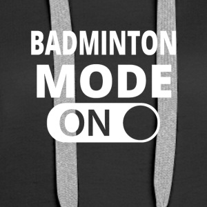 MODE ON BADMINTON - Felpa con cappuccio premium da donna