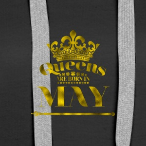 QUEENS are born in MAY - Women's Premium Hoodie