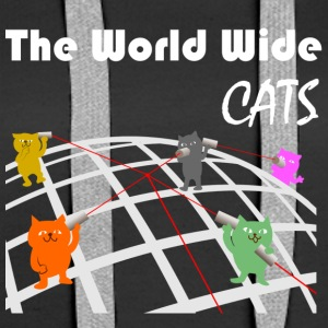 Il World Wide Cats - Felpa con cappuccio premium da donna