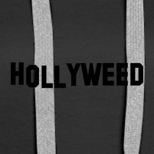 Hollyweed Black - Dame Premium hættetrøje