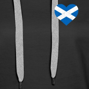 Scotland Flag Shirt Heart - Scottish Shirt - Women's Premium Hoodie