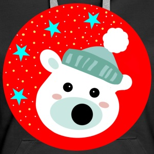 Winter bear - Naisten premium-huppari