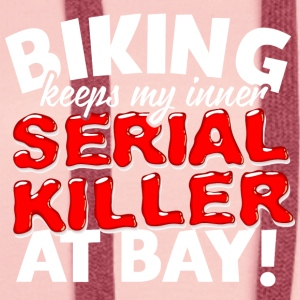 38 Serial Killer bike - Felpa con cappuccio premium da donna