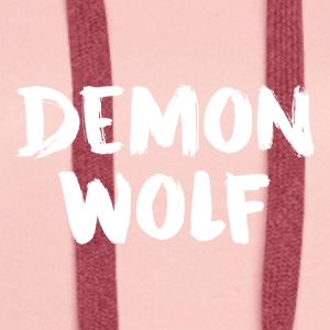 DemonWolf Text Logo - Women's Premium Hoodie