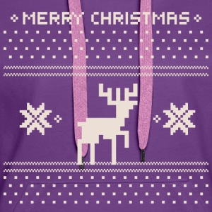 Christmas Pixilated Deer Jumper