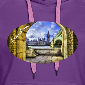 London / Westminster Bridge und Big Ben - Frauen Premium Hoodie