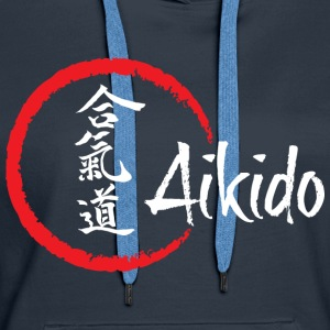 Aikido for sort - Dame Premium hættetrøje