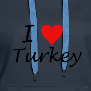 I Love Turkey - Women's Premium Hoodie