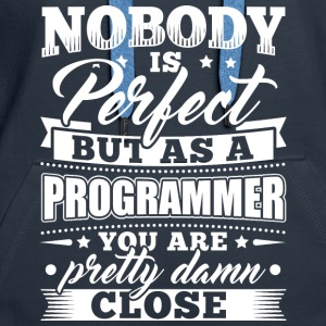 Funny Developer Programmer Shirt Nobody Perfect - Frauen Premium Hoodie