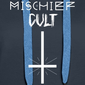 Mischief Cult | Upside Down Cross Design | Occult - Women's Premium Hoodie