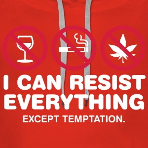 I Can Not Resist The Temptation! - Women's Premium Hoodie