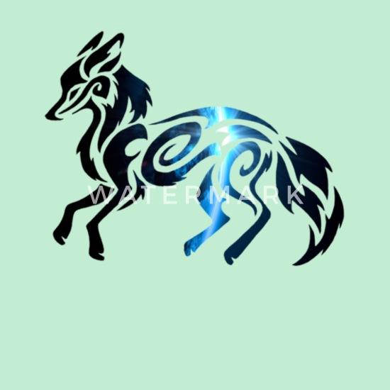 Tribal Space Fox Sweat à capuche premium Femme   Spreadshirt