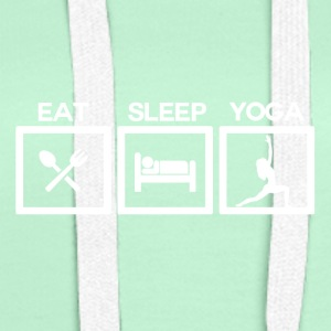 Eat Sleep Yoga - Cycle - Women's Premium Hoodie