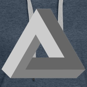 3D Impossible Triangle - Women's Premium Hoodie