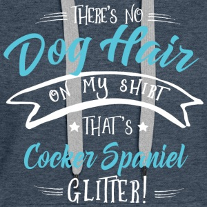 There is no Dog Hair this Cocker Spaniel Glitter