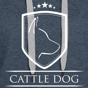 CATTLE DOG COAT OF ARMS - Women's Premium Hoodie