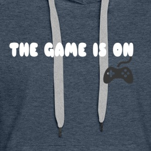 THE GAME IS ON T-SHIRT - Women's Premium Hoodie