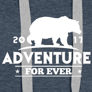 ADVENTURE FOR EVER - GRIZZLY - Vrouwen Premium hoodie
