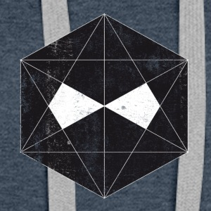 new dark polygon face design - T-Shirt - - Frauen Premium Hoodie