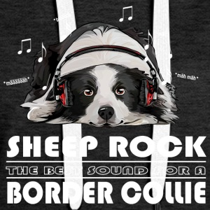 Border Collie OWCE ROCK - Bluza damska Premium z kapturem
