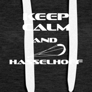 KITESURFING KEEP CALM AND HASSELHOFF - Frauen Premium Hoodie
