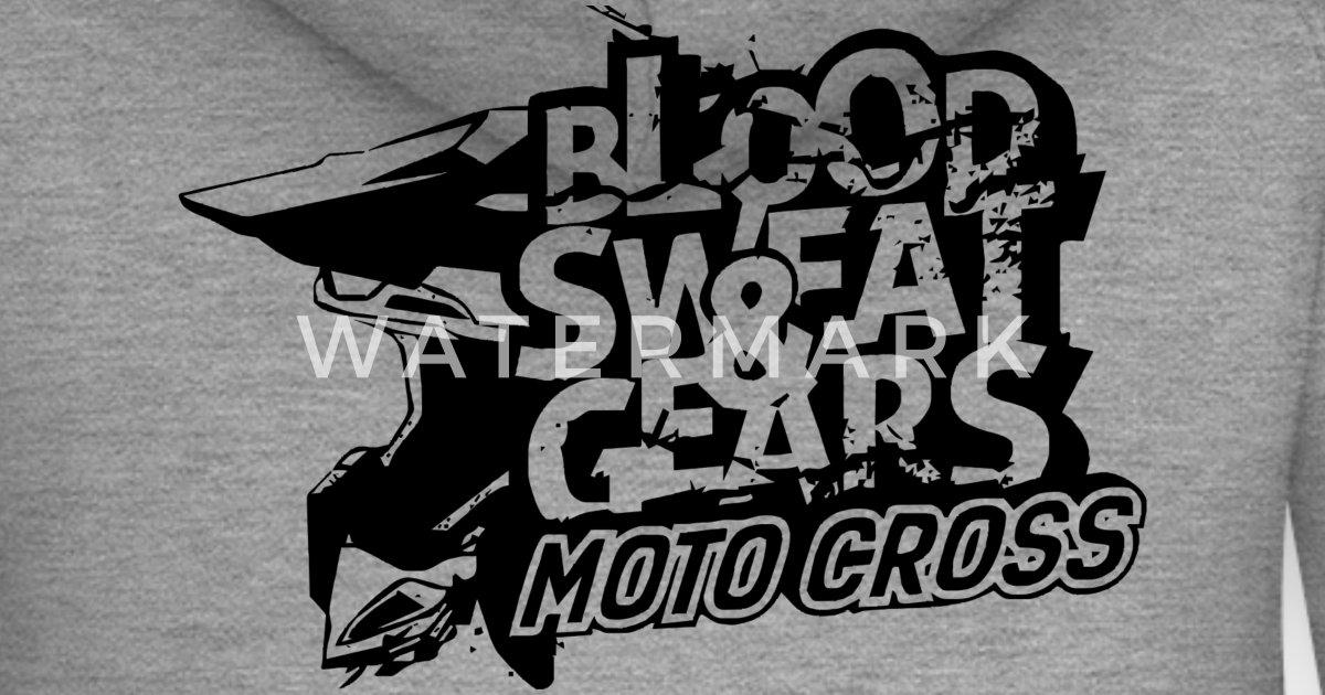 Blood Schweiss und Gears Herren Lustige Motocross Kapuzenpulli Motorrad Motox