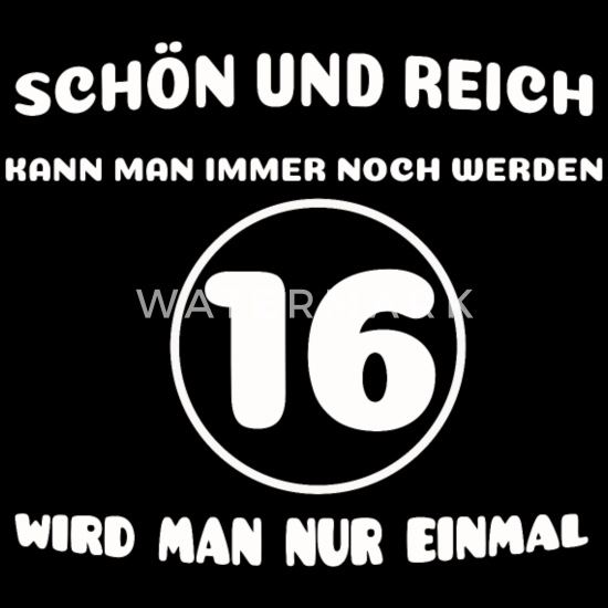 16 Geburtstag Lustiger Spruch Frauen Premium Kapuzenjacke Schwarz