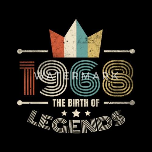 50 Geburtstag Retro Legend Geschenk Jahrgang 1968 Von Teebizz