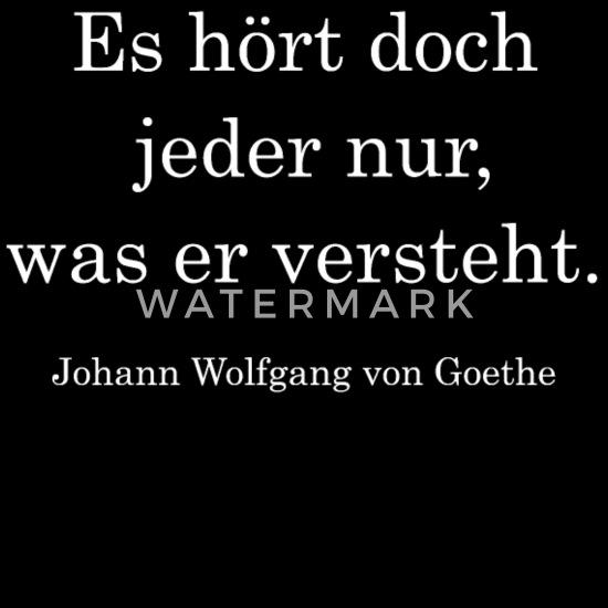 Zitat Johann Wolfgang Von Goethe Frauen Premium Kapuzenjacke Schwarz