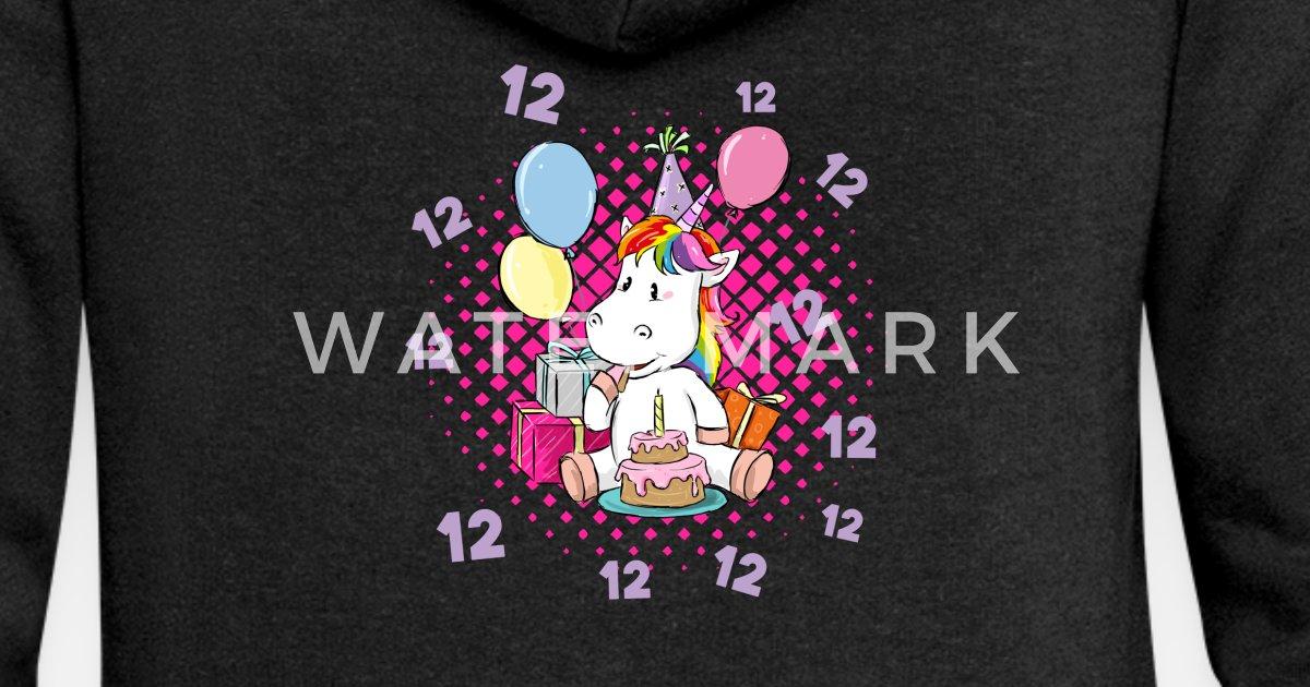 12 Geburtstag Shirt Madchen Einhorn Geschenkidee Frauen Premium
