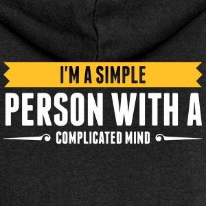I'm A Simple Person With A Complicated Mind - Women's Premium Hooded Jacket