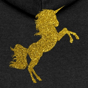 Golden Unicorn - Golden Unicorn Gold Glitter - Felpa con zip premium da donna
