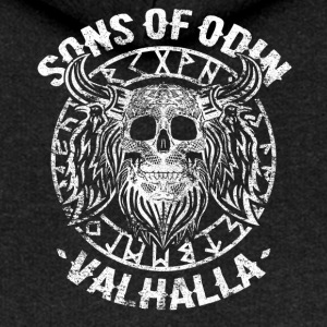 Sons Of Odin Viking Walhalla Runes Skull - Women's Premium Hooded Jacket