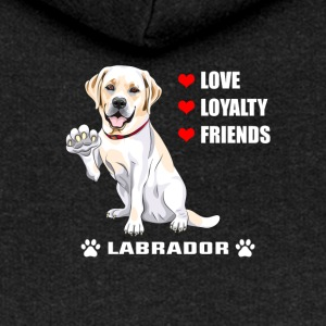 Hunde T Shirt | Labrador - Love - Loyalty - Friend - Frauen Premium Kapuzenjacke