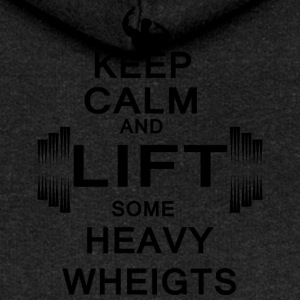 KEEP CALM lift some heavy weights - Women's Premium Hooded Jacket