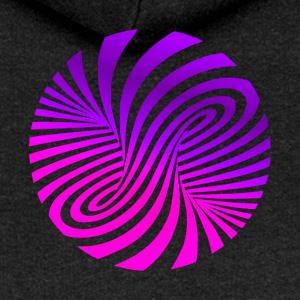 Psychedelic illusion Disco 60s tornado - Women's Premium Hooded Jacket