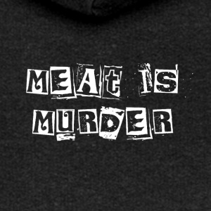 Meat Is Murder - Women's Premium Hooded Jacket