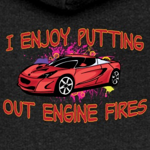 I enjoy putting out engine fire red sportscar - Women's Premium Hooded Jacket