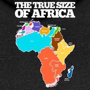 THE TRUE SIZE OF AFRICA - Women's Premium Hooded Jacket