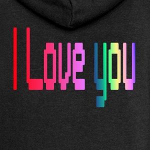 love you 3 - Women's Premium Hooded Jacket